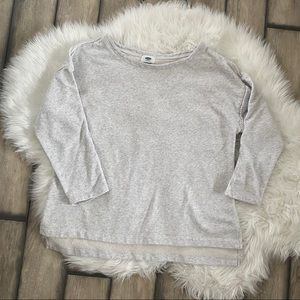 Old Navy Women's Sweatshirt w/ Lace Detail Hi-low